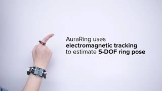 Demo of AuraRing: Precise Electromagnetic Finger Tracking