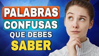 PALABRAS CONFUSAS en INGLÉS que debes saber!