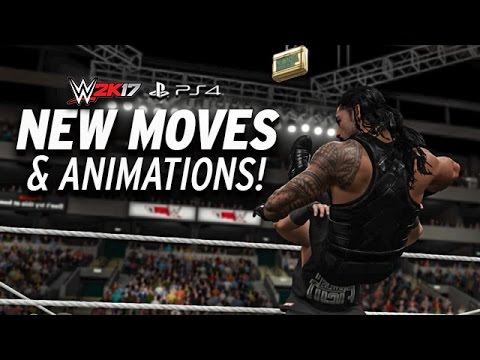 WWE 2K17 New Moves & Animations! PS4 & XBOX ONE