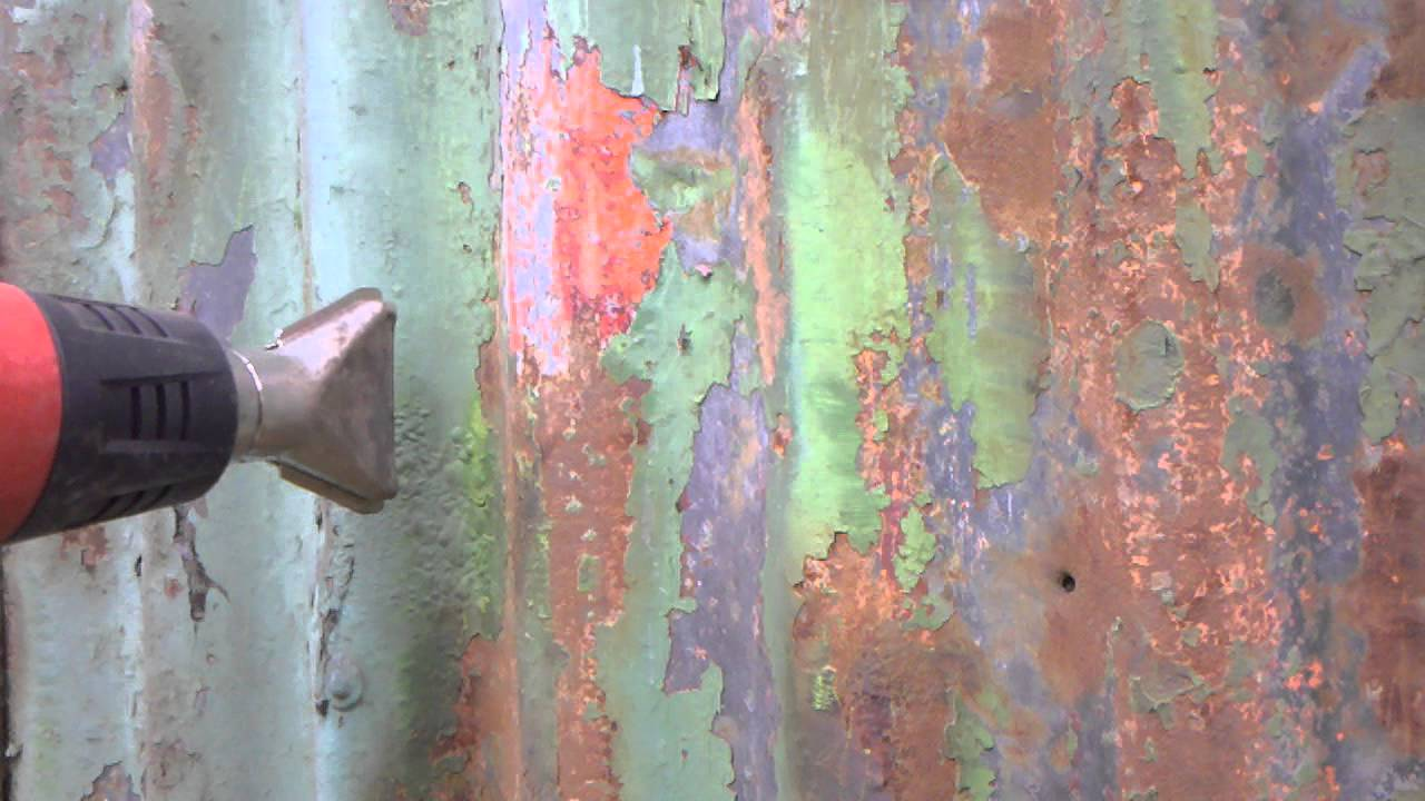 How To Remove Paint From Corrugated Iron How To Youtube