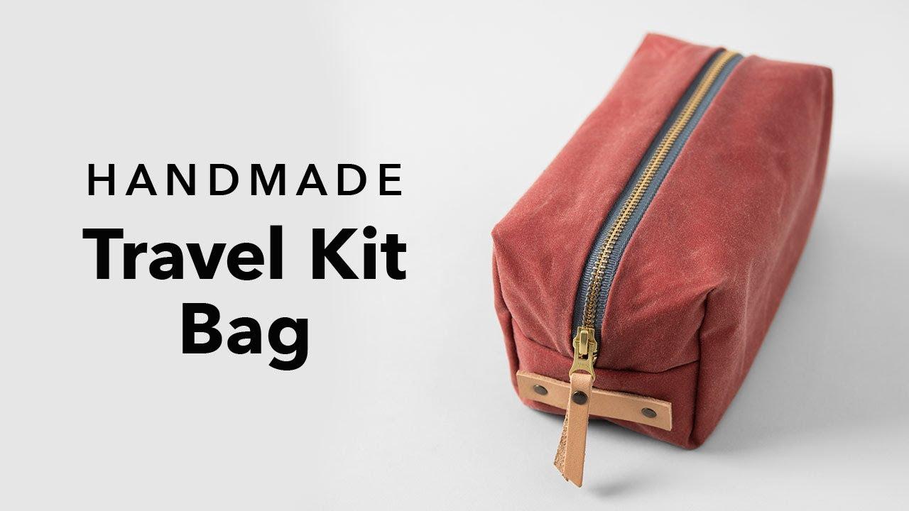 Men/'s Real Handmade Leather Handmade Toiletry Bag Handbag Shaving Machine Kit