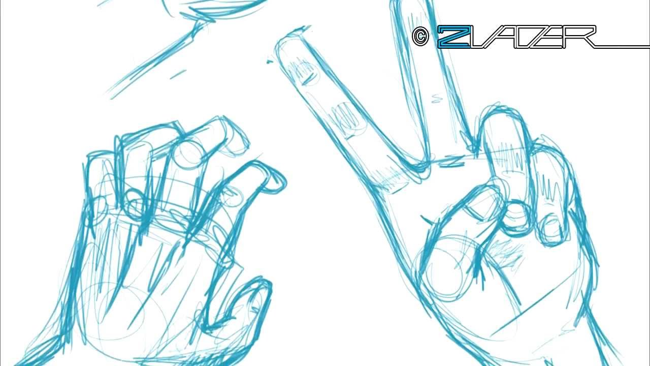 How 2 Draw Manga Tutorial - The Hand (German with English ...