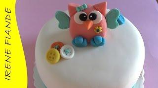 Фигурки из мастики для торта. Как слепить сову.(Как сделать из мастики фигурку совёнка для торта своими руками. Торт,украшенный совёнком можно посмотреть..., 2014-11-29T23:40:24.000Z)