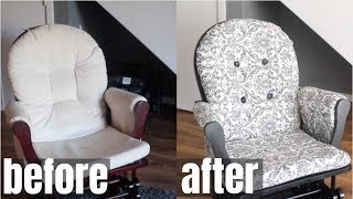 HOW TO SEW: EASY DIY ROCKING CHAIR SLIPCOVER 2018 #NEXTLEVELLIFESTYLE