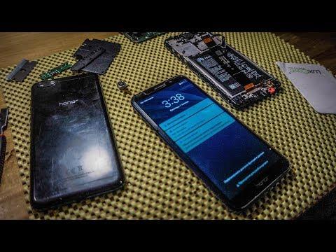Huawei Honor 7A. Разбор телефона (восстановление после воды)