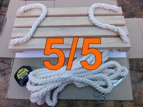 C mo hacer un columpio de madera 5 colocar la cuerda - Como colocar las cuerdas de un estor ...