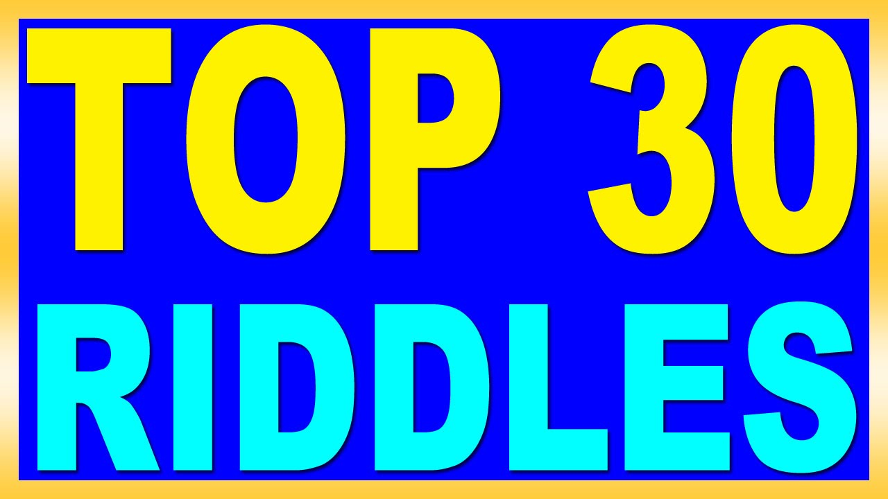 Top 30 Riddles With Answers Youtube