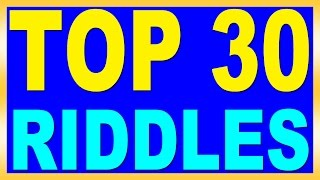 Top 30 Riddles with Answers  for Kids