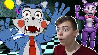 - Пять ночей с Кенди Два кота играем с аниматрониками в Игре как фнаф Five Nights At Candy s