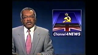 Channel 4 News Summary with Trevor McDonald 1989