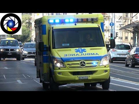 Ambulance 263 Genève // Emergency Amblance Geneva
