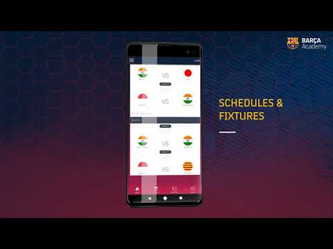 The Android and iOS App for FC Barcelona for the Asia Pacific Cup 2020
