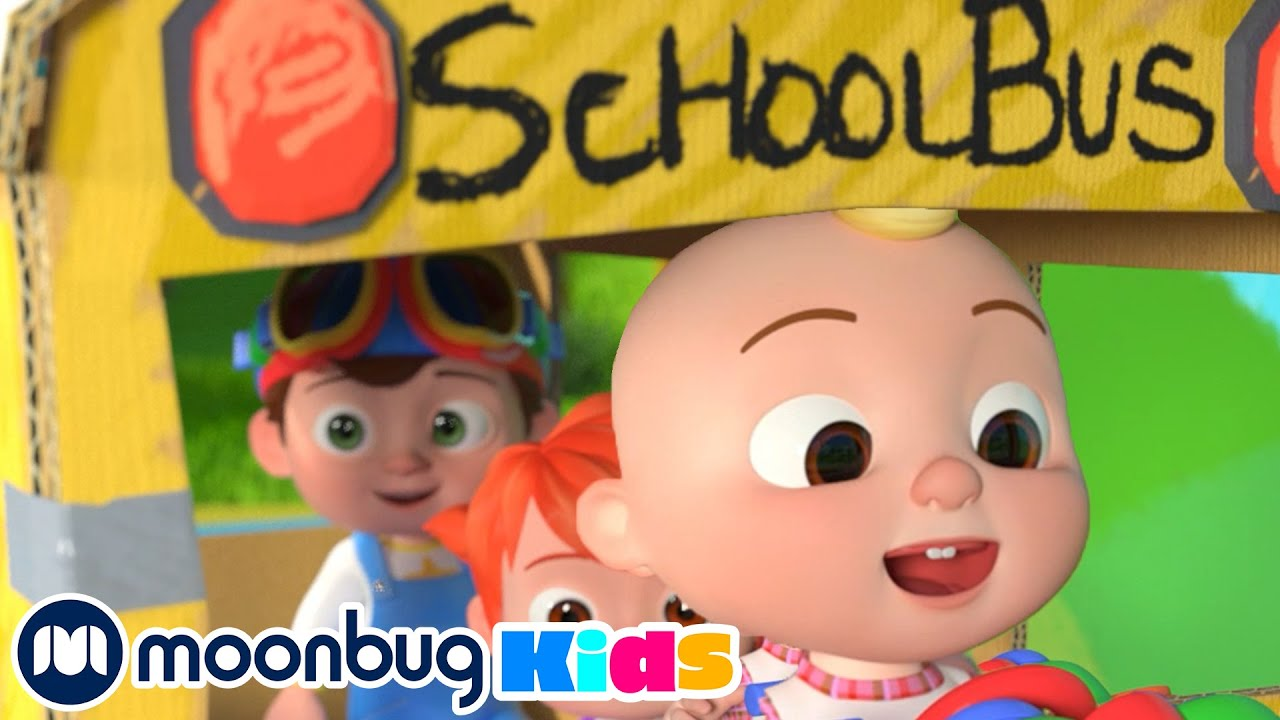 COCOMELON - Wheels on the Bus!   Learn   ABC 123 Moonbug Kids   Fun Cartoons   Learning Rhymes