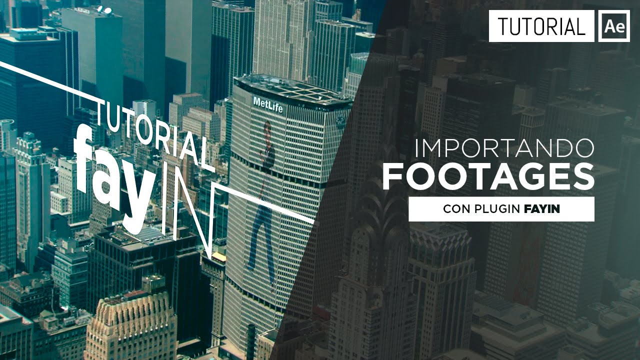fayIN Tutorial Import Footages - After Effects Tutorial