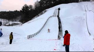 Training for Ski Jumping in PyeongChang, South Korea
