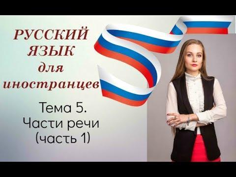 Русский как иностранный. Урок 5.Части речи (часть 1)