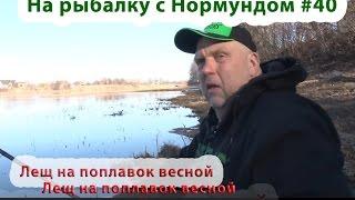 Лещ на поплавок весной : На рыбалку с Нормундом #40