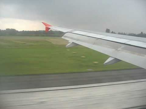 Spirit Airlines landing in Bogota