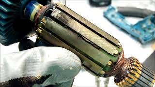 Дриль MAKITA HP 1620 іскрить димить, РОЗБИРАННЯ ДІАГНОСТИКАRepair drills : sparks smokes