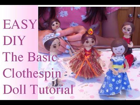 DIY: The Basic Clothes Pin Dolls