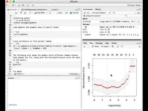 STAT 115 Screencast: LASSO regression in R
