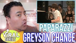 Reaction to greyson chance paparazzi (live) & ellen interview! performance analysis and commentary
