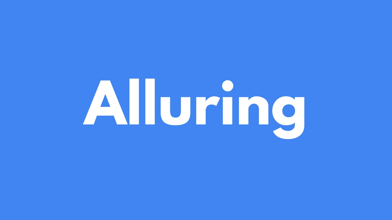 how to use alluring in a sentence