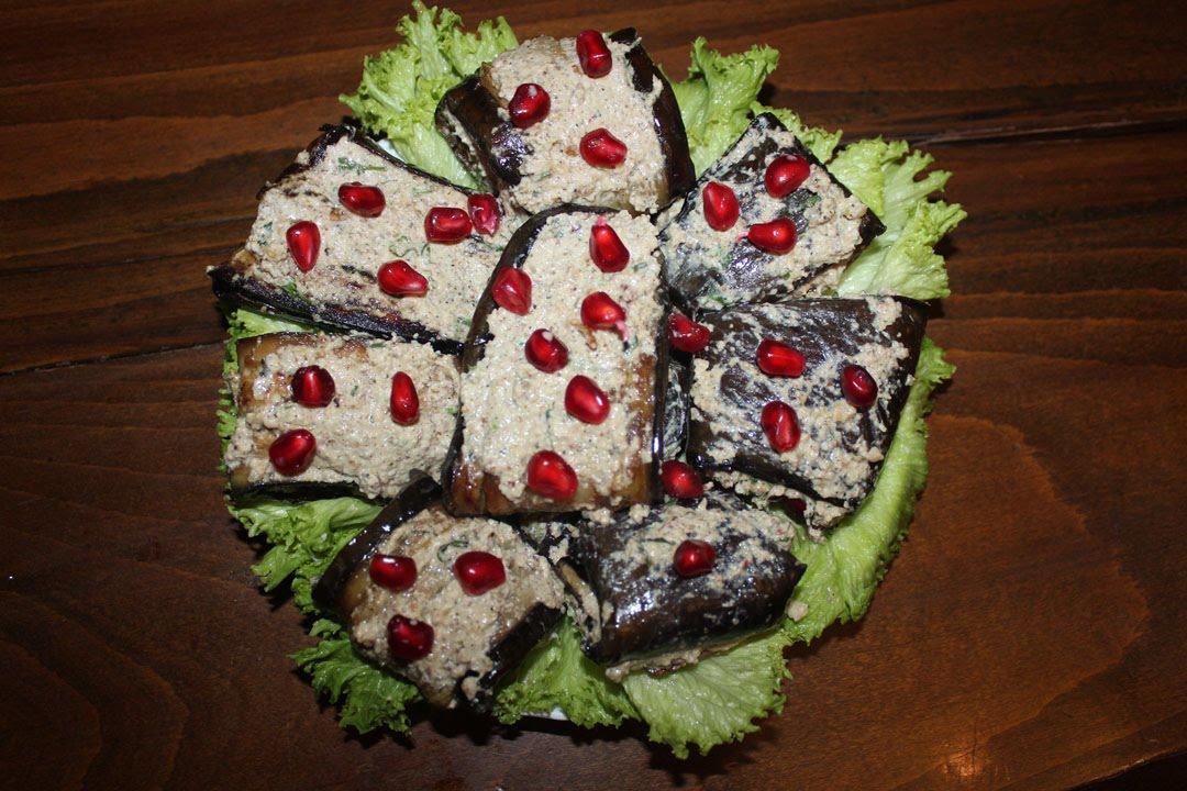 баклажаны по-грузински с орехами рецепт с фото
