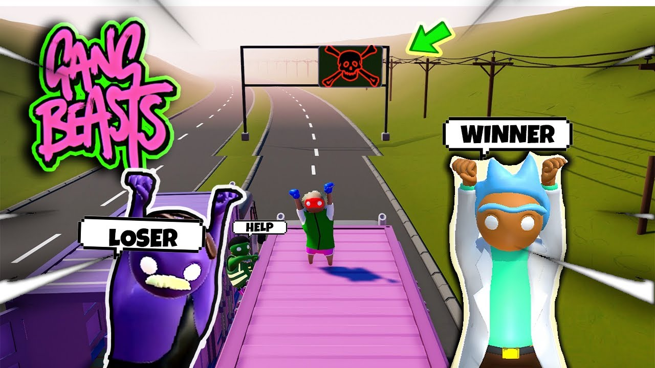 ( GANG BEASTS )- Funny Moments- ( IT WAS HILARIOUS !!!) ft. @Yahboi ABE @Mountez