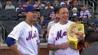 Joey Chestnut Eats Hot Dog, Throws First Pitch