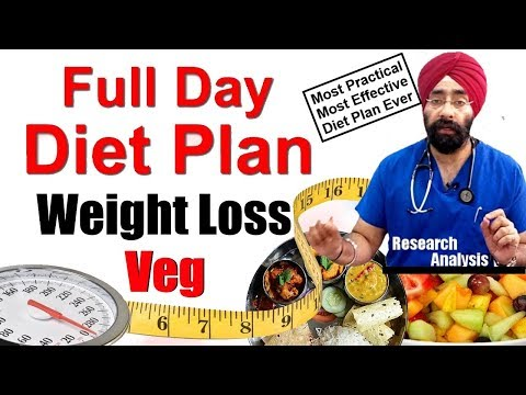 Doctor Gives - Full Day Vegetarian Weigh Loss Diet Secrets | Loose Fat | Dr.Education (Hindi)