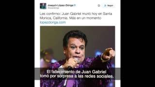Así impactó la muerte de Juan Gabriel en las redes sociales