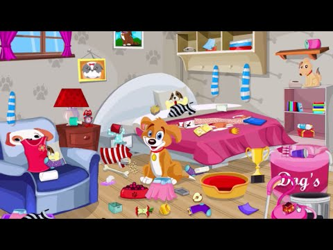 Cleaning Messy Room puppy messy room cleaning - walkthrough - youtube