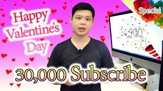 สุขสันต์วันวาเลนไทน์ แจกปากกาควง 10 รางวัล ฉลองครบ 30,000 Subscribe !