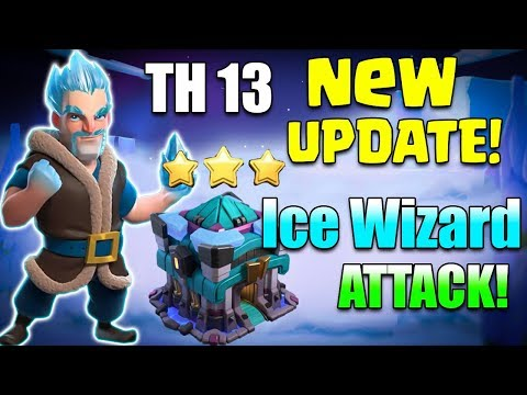 Town Hall 13 (TH13) Attack Strategy 2019! 15 Max Ice Wizard NEW UPDATE Try New TH13 3star Attack