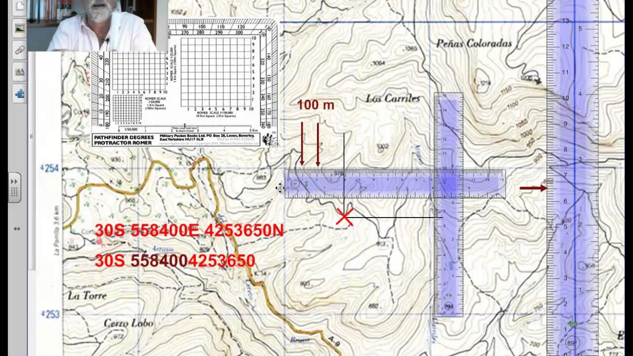 Como determinar nuestra posicione, en coordenadas UTM, con un mapa ...