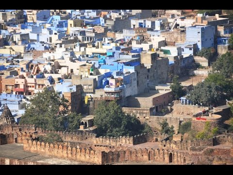 Voyage en Inde - Jodhpur  - Mehrangarh Fort - Ville bleue