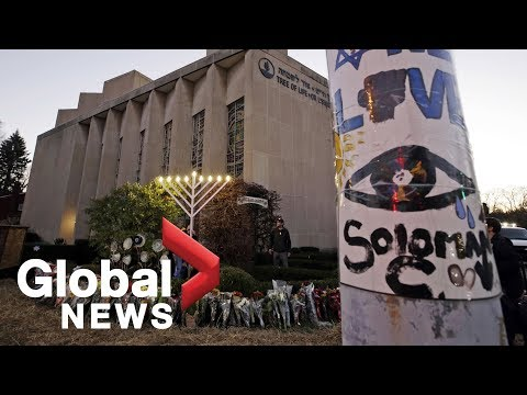 Hanukkah ceremony held at Pittsburgh's Tree of Life synagogue