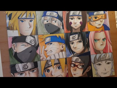 Drawing Team Minato & Team 7 (then And Now) - NARUTO