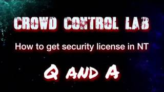 Darwin Secuirty- How To get security license