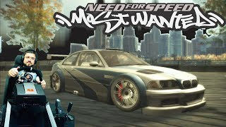 Эпичные погони в старом добром Need for Speed Most Wanted 2005 на руле Fanatec ClubSport