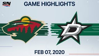 NHL Highlights | Wild vs. Stars – Feb. 7, 2020
