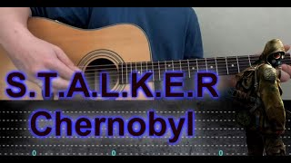 How to play STALKER Fingerstyle Guitar +TABS