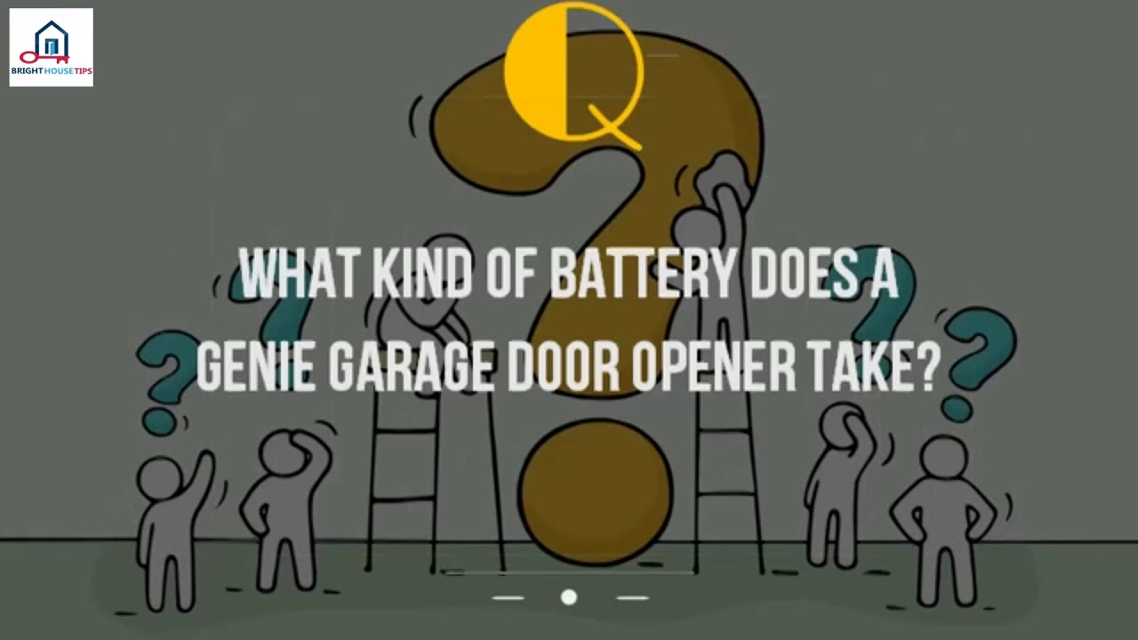 What Kind Of Battery Does A Genie Garage Door Opener Take3f Youtube