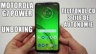 Motorola G7 Power - Unboxing și primele impresii. Telefon cu 3 zile de autonomie (limba română)