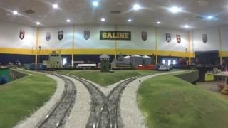 Saline train show 2-19-2017 DT&I HO cab ride,rails on wheels