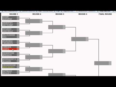 "Madden 13 $2000 Cash Bowl Qualifiers Bracket ""Virgin Gaming Online Tournament"""