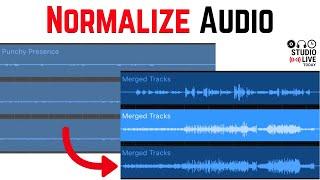 How to NORMALIZE (increase) volume in GarageBand iOS (iPad/iPhone)