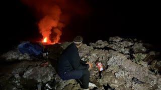 Piton de la Fournaise : un spectacle nocturne en petit comité à cause du couvre-feu
