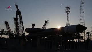 Вывоз РН «Союз-ФГ» с ТГК «Прогресс МС-10»